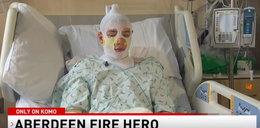 Heroiczny czyn 20-latka. Wyciągnął dzieci z pożaru