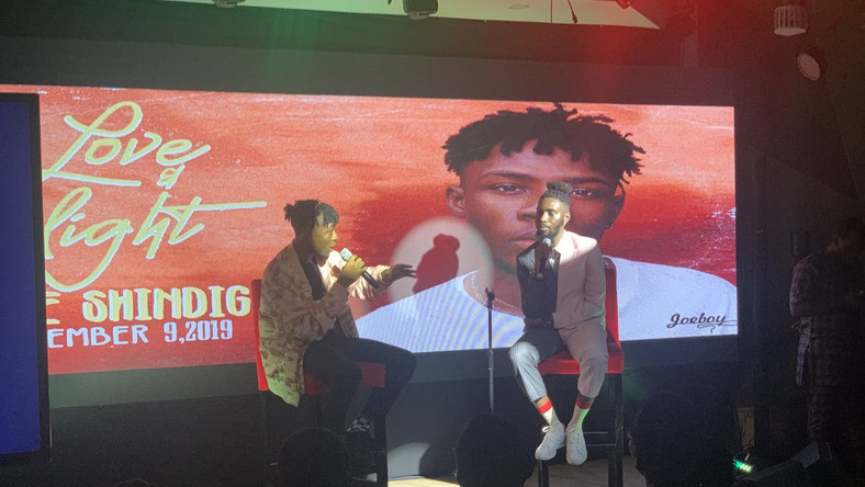 Joeboy holds listening party for 'Love and Light EP.' (Twitter/JoeboyOfficial)