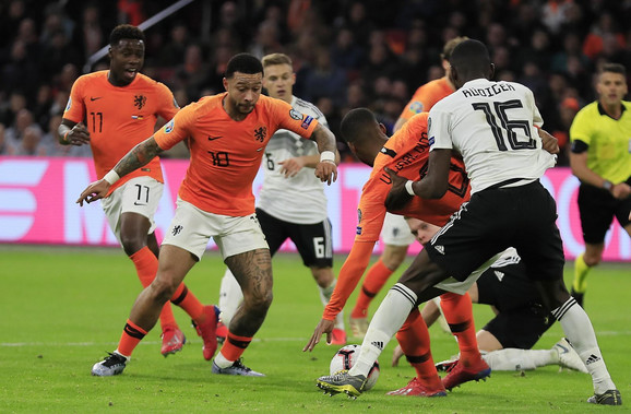 Detalj sa utakmice Holandija - Nemačka