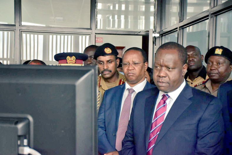Interior CS Fred Matiang'i during a past launch of the IAU department (Twitter)
