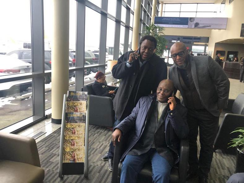 Atiku poses for pictures in the United States (Atiku media)