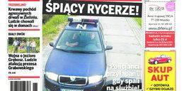 Tak pracuje polska policja. Śpią na służbie!