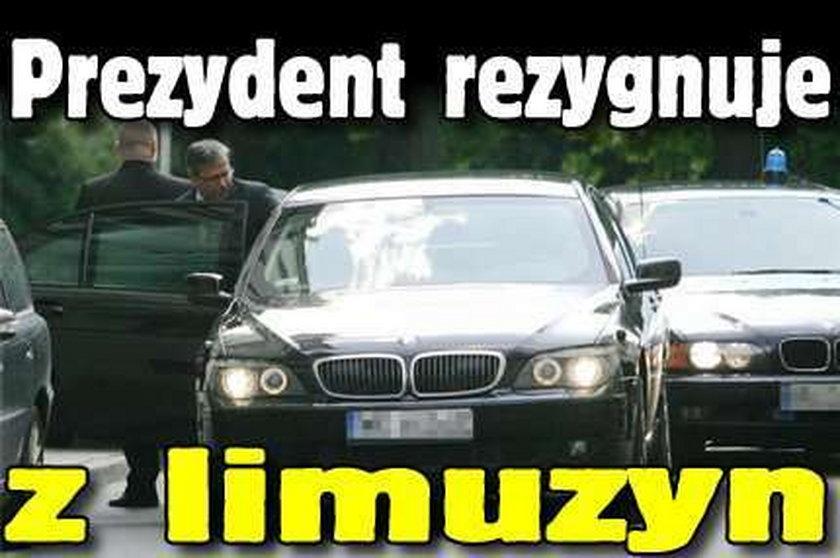 Prezydent rezygnuje z limuzyn