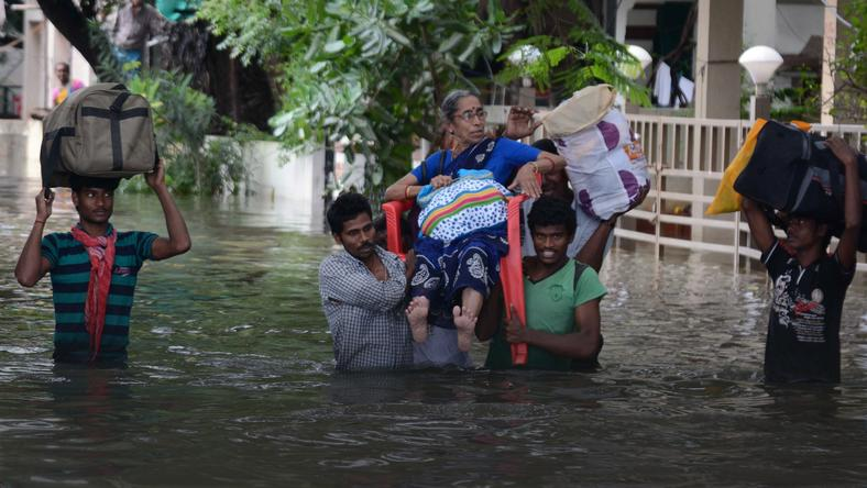 INDIA-WEATHER-FLOODS