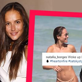 Natalia Borges z mężem na plaży. Ciało modelki to marzenie!