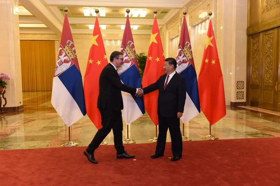 Susret prijatelja: Aleksandar Vučić i Si Đinping