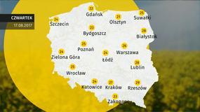 Prognoza pogody dla Polski - 17.08