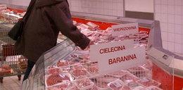 Mięso z hipermarketu świeci na zielono