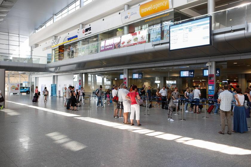 Terminal na poznańskim lotnisku