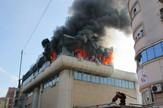 NIS08 Pozar u centru Nisa u zgradi Elektrodistribucije foto Branko Janackovic