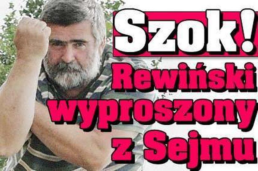 Szok! Rewiński wyproszony z Sejmu