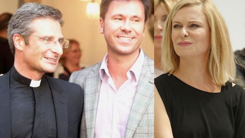 ks. Charamsa z partnerem, Eduardo i Paulina Młynarska