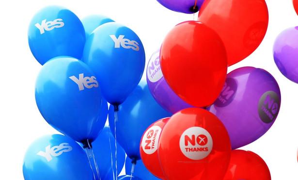 Referendum w Szkocji. Fot. EPA/ANDY RAIN