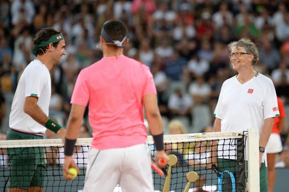 Rodžer Federer, Rafael Nadal i Bil Gejts