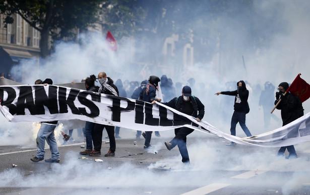 Protest w Paryżu