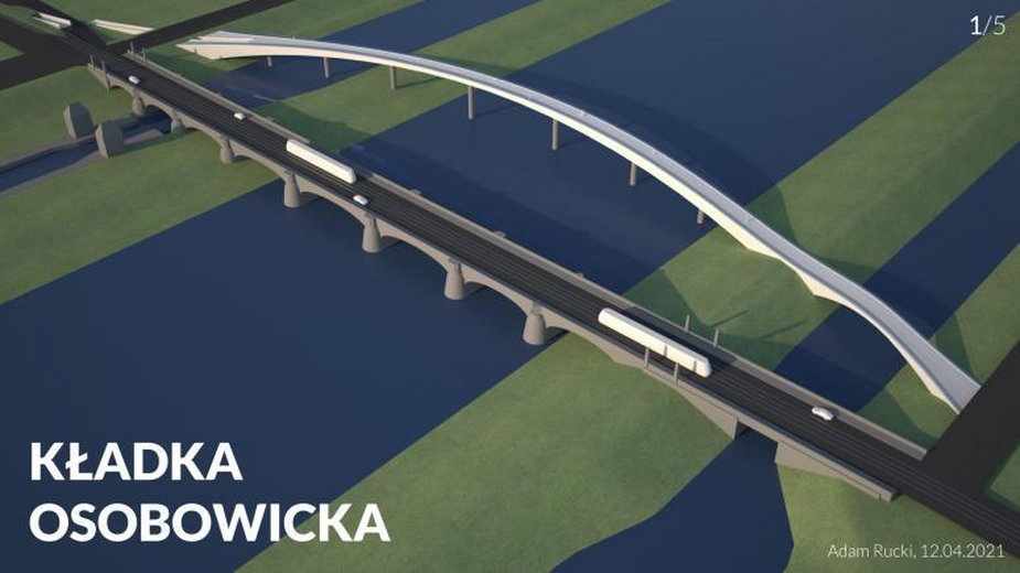 Propozycja budowy kładki przy moście Osobowickim