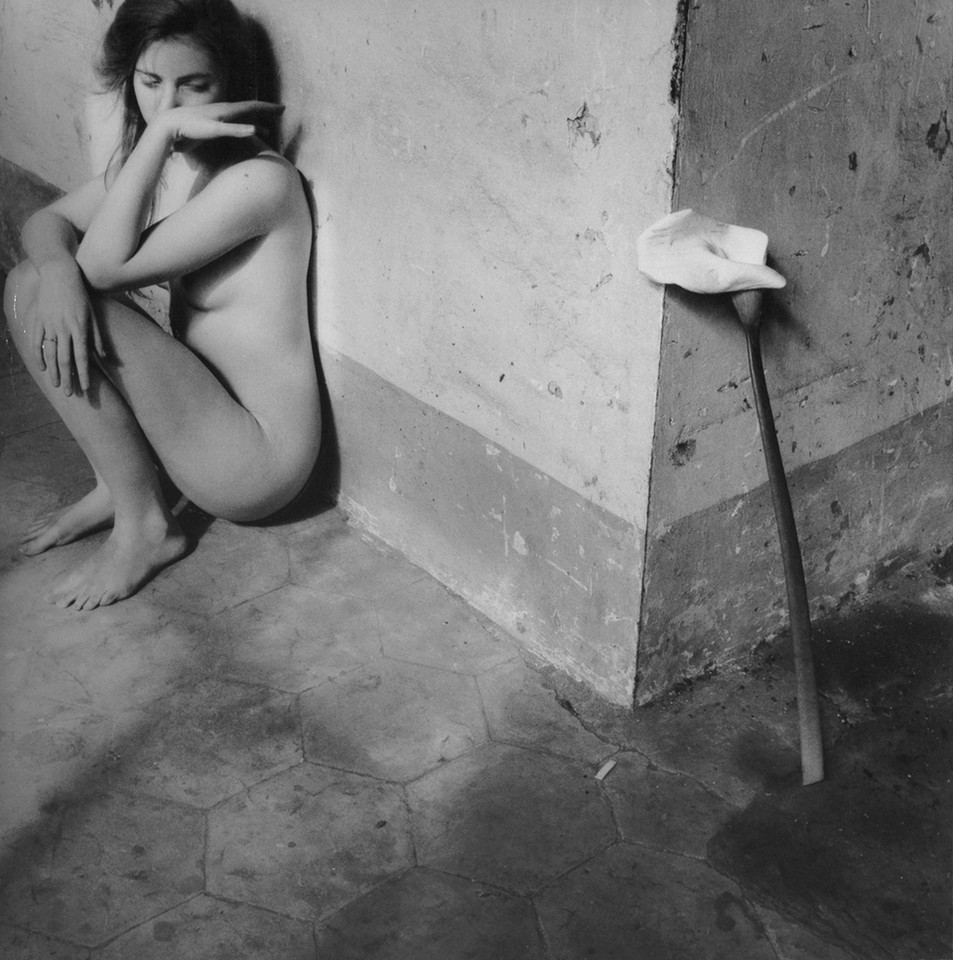 "Francesca Woodman, ""Self Portrait, Easter, Rome"", 1978. Courtesy Charles Woodman, and Victoria Miro, London/Venice"
