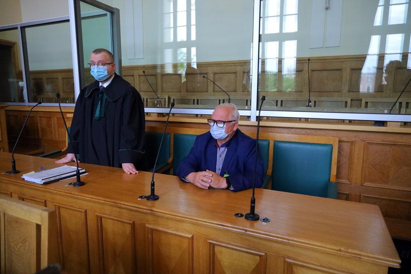 Adwokat Jakub Pilc i Miroław Iwański