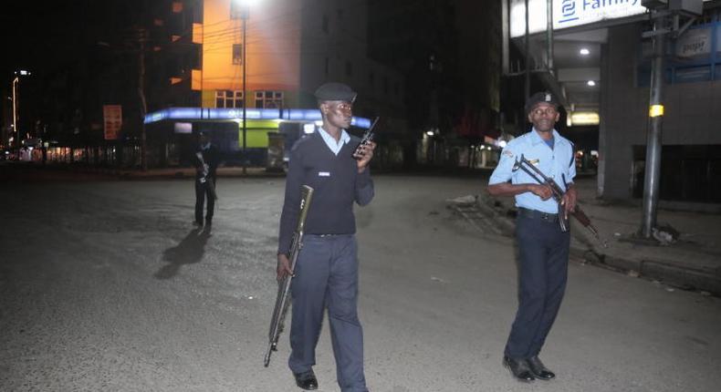 Police patrol past curfew