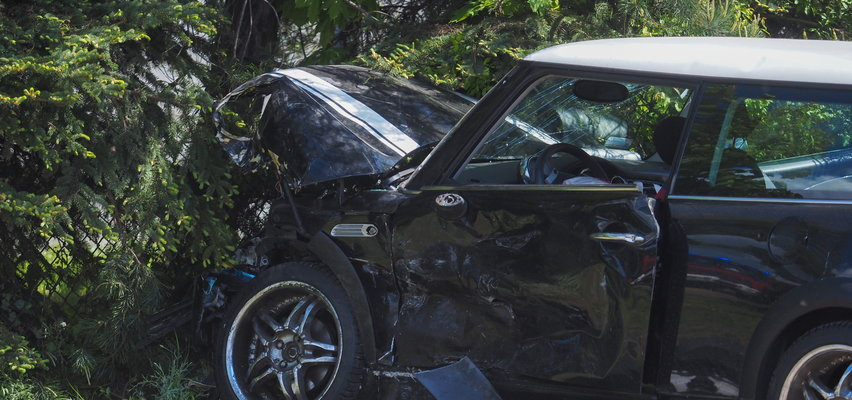 Wypadek w Biskupiej Woli. Trzy osoby poszkodowane