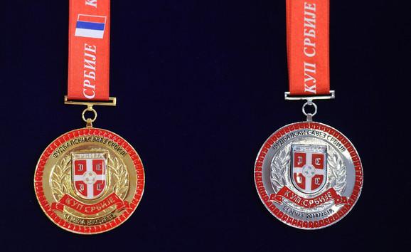 Zlatna i srebrna medalja čeka finaliste Kupa Srbije u fudbalu