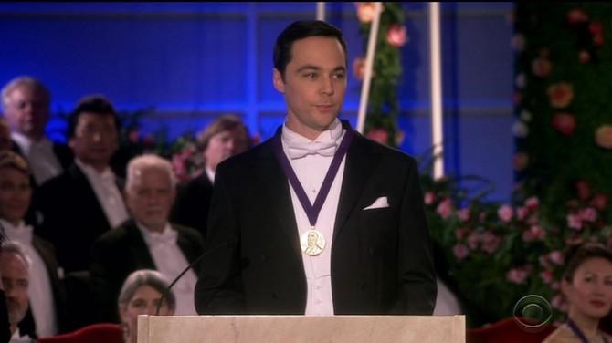 "Džim Parsons kao Šeldon u finalnoj epizodi ""Štrebera"""