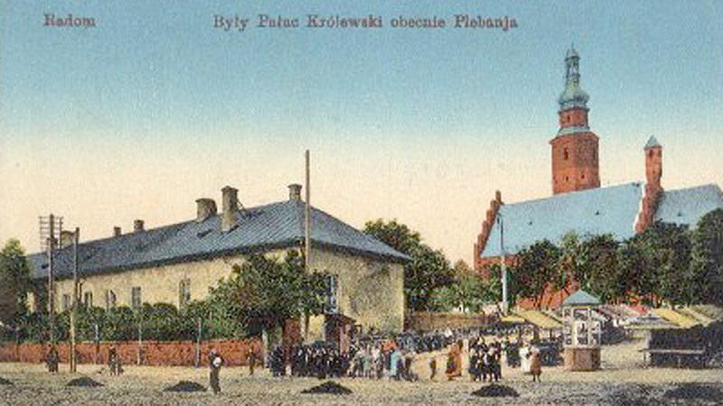 Zamek w Radomiu na dawnej pocztówce