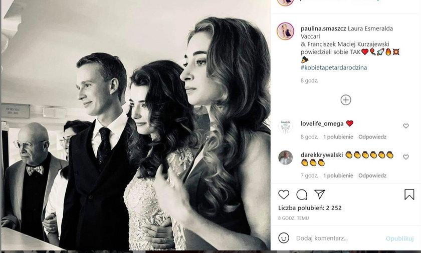Franciszek Maciej Kurzajewski ożenił się. Zdjęciem pochwaliła się dumna mama.
