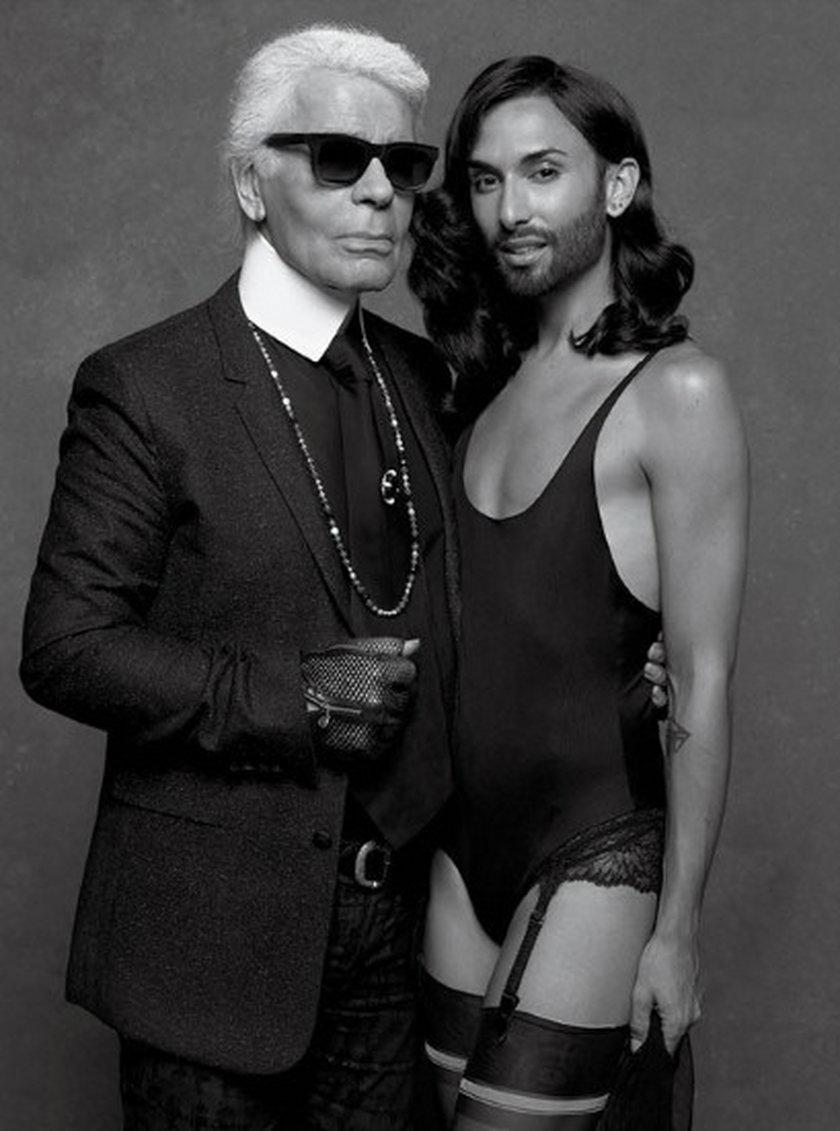 Conchita Wurst ulubienicą Lagerfelda