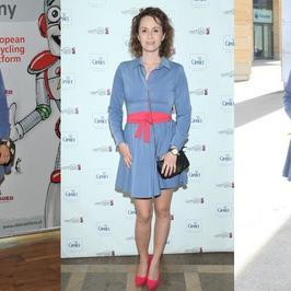 Monika Mrozowska w tej samej sukience na trzech imprezach jednego dnia