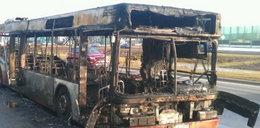 Zapalił się autobus!