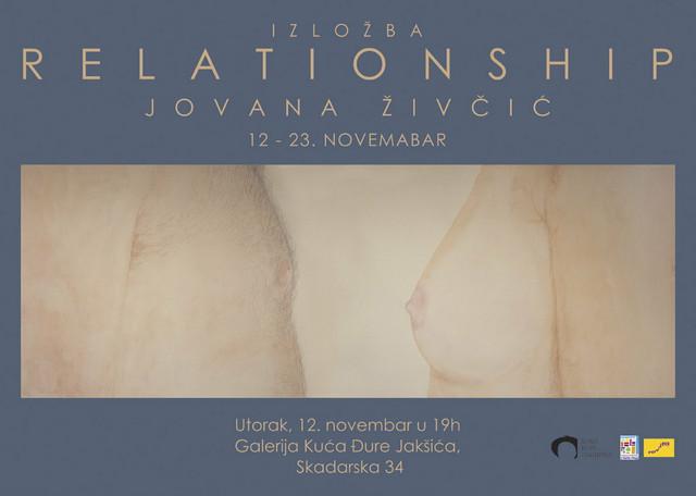 """Izložba """"Relationship"""" od 12-23 novembra u Galeriji Kuće Đure Jakšića"""