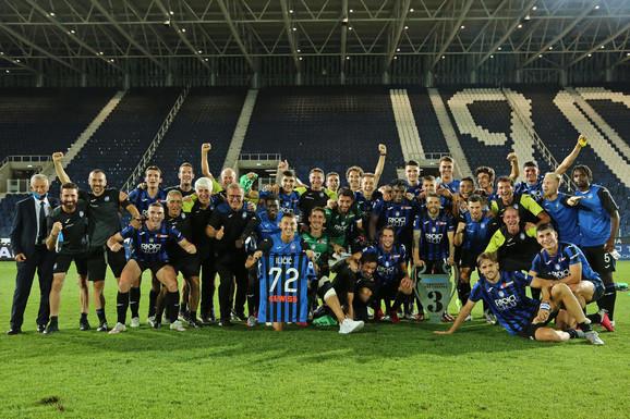 Fudbaleri Atalante slave treće mesto i uspešnu sezonu