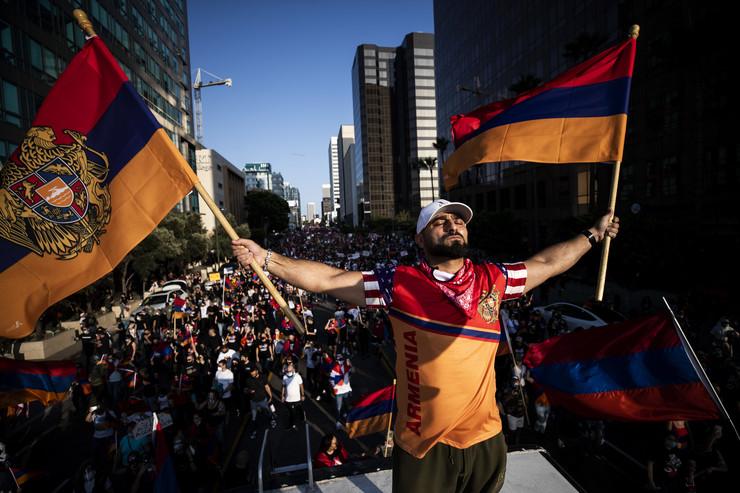 Protest podrške Jermeniji u Los Anđelesu
