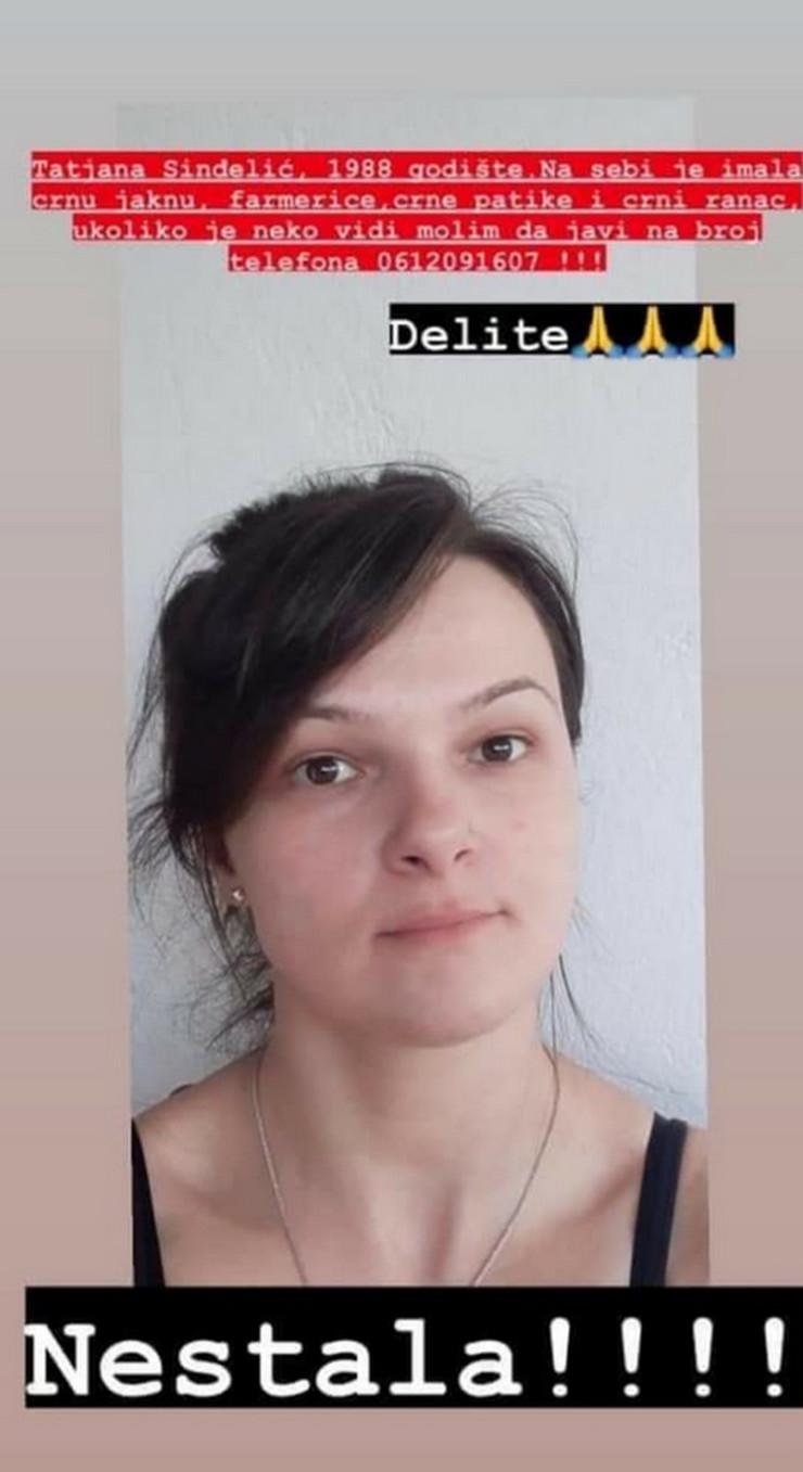 Tatjana Sinđelić nestala