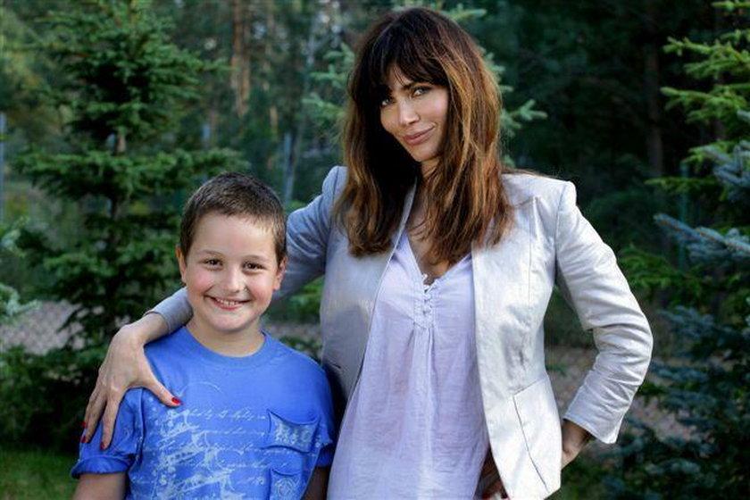 Syn Dominiki Ostałowskiej gra w serialach