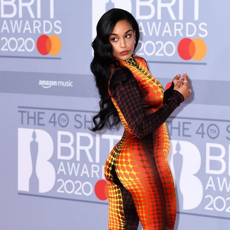 Jorja Smith at the 40th BRIT Awards Red Carpet [Instagram]
