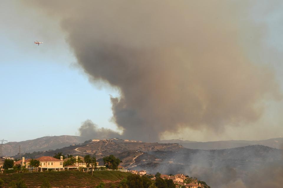 Pożar w Orange