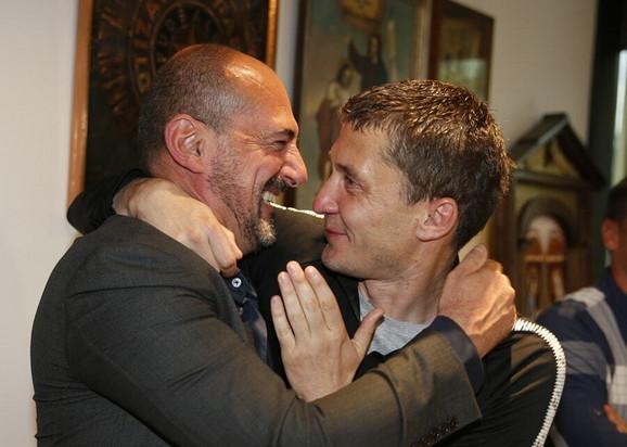 Nekadašnji trener Partizana Vladimir Vermezović i Saša Ilić