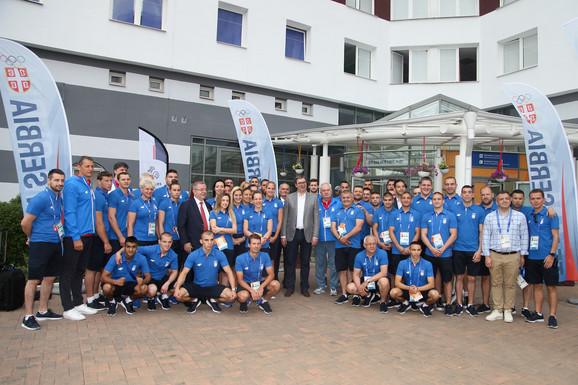 Sportisti Srbije sa predsednikom države u Minsku