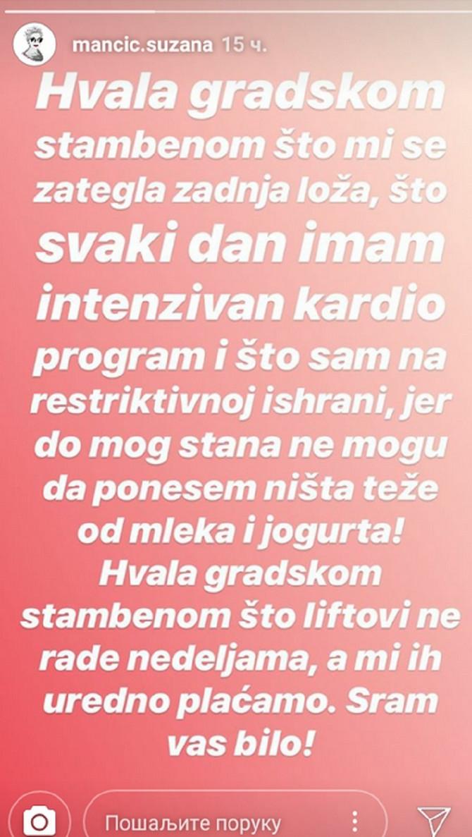 Suzana Mančić o problemu