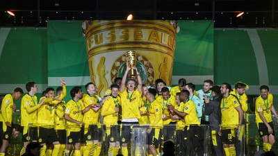 Haaland, Sancho score two each as Dortmund win German Cup final