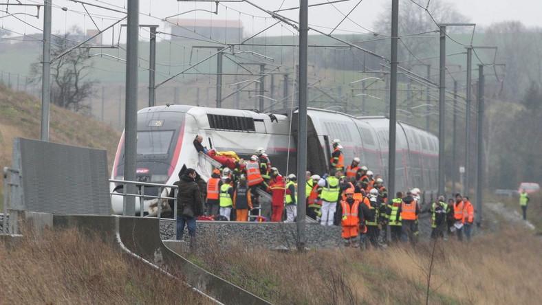 Wykolejenie się pociągu we Francji
