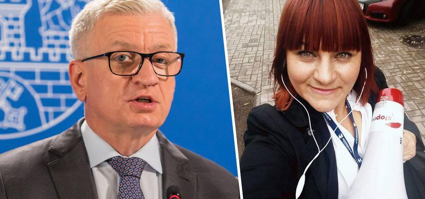 """Ostre słowa prezydenta Poznania o Justynie Sosze. """"Nie będę dyskutował z idiotką"""""""