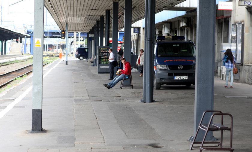 dworzec peron poznań