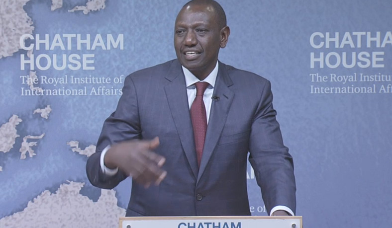 DP William Ruto during his February 8, 2019 Chatham House address