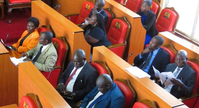 File image of Siaya County assembly during a past session