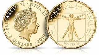 Leonardo da Vinci na monetach świata