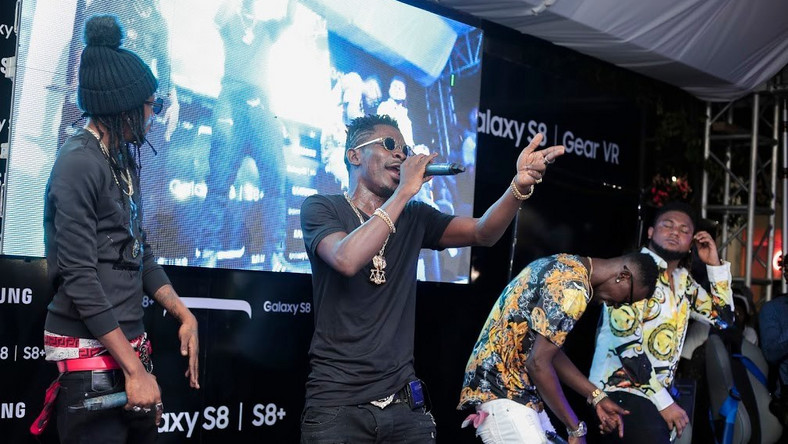 Shatta Wale performs at the launch event
