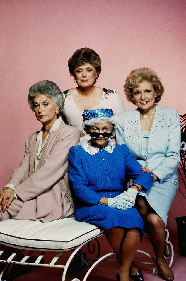 "Gwiazdy ""Złotka"": Estelle Getty, Rue McClanahan, Bea Arthur i Betty White"